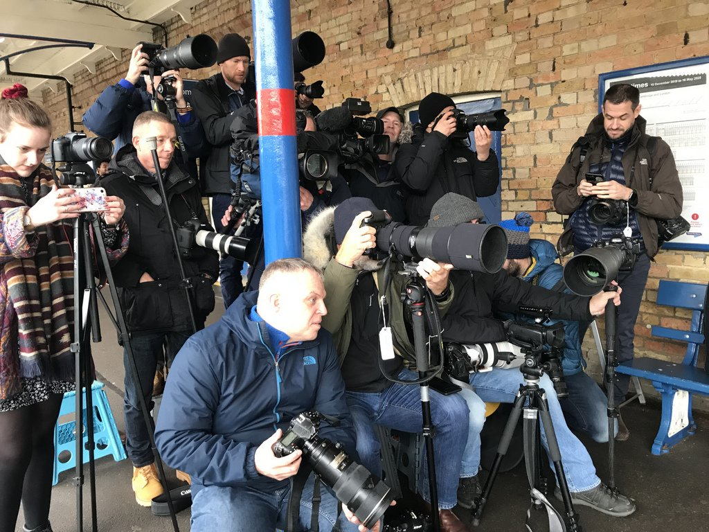 Media waiting for that big story