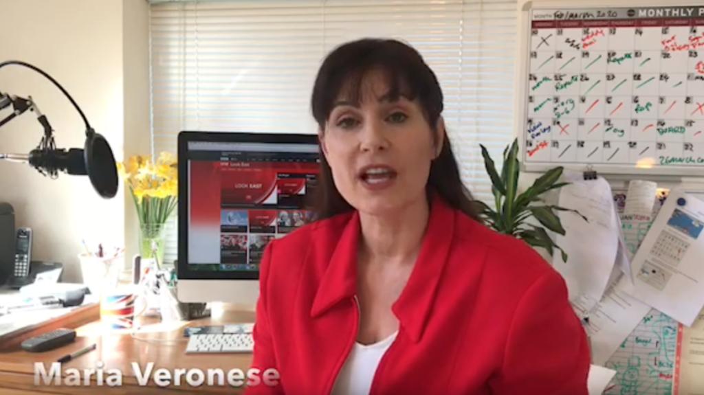 Maria Veronese presenting BBC
