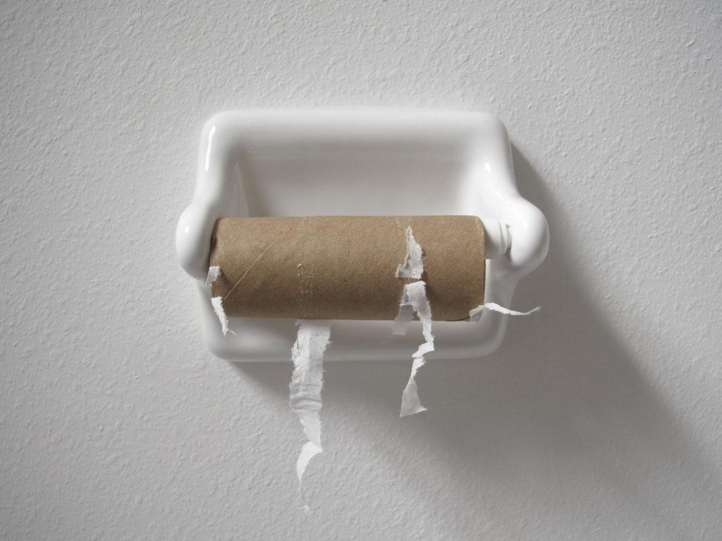 No toilet rolls