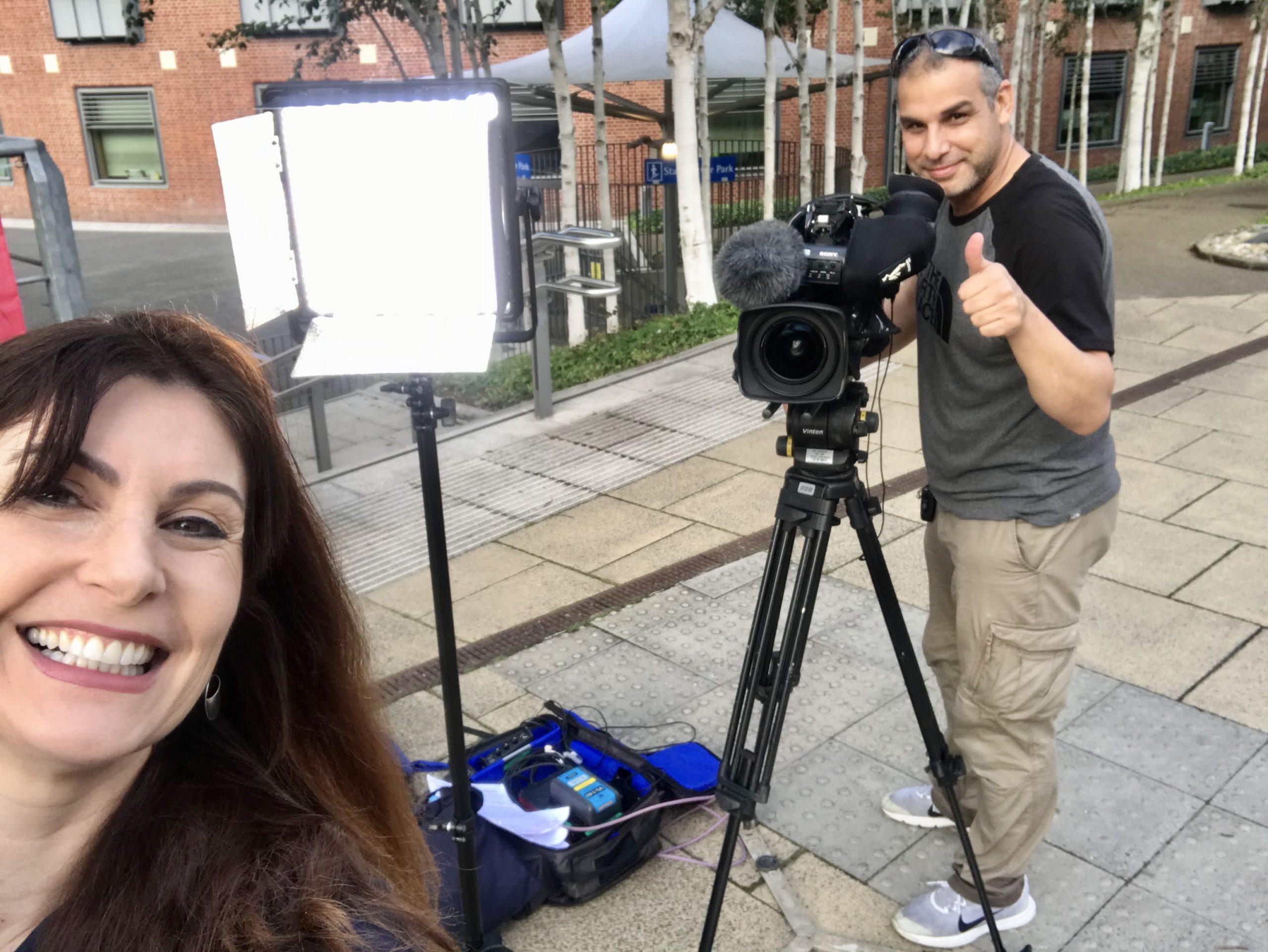 Mediapro TV News Camera Crew